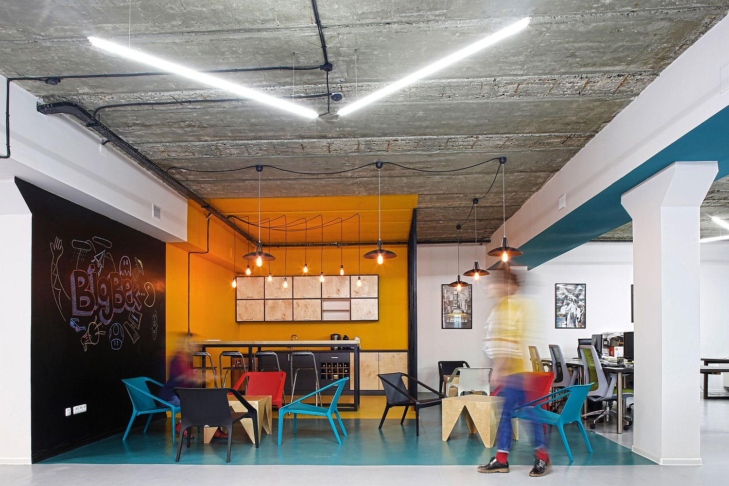 Innovative office in Armenia is filled with color and industrial flair