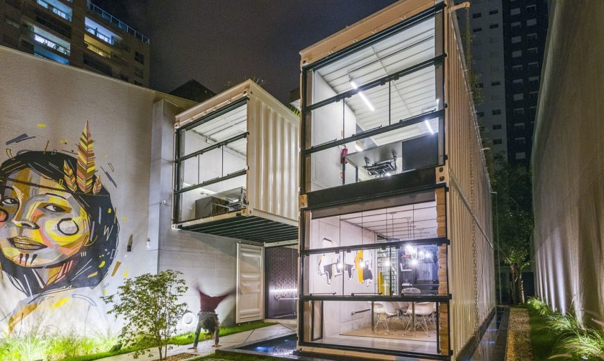 Container: Modular and Sustainable Office Structure with Industrial Panache