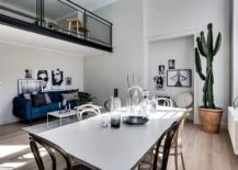 Living area and dining room of the stylish apartment in Stockholm 217x155 Stylishly Scandinavian: Gorgeous Contemporary Apartment in Stockholm