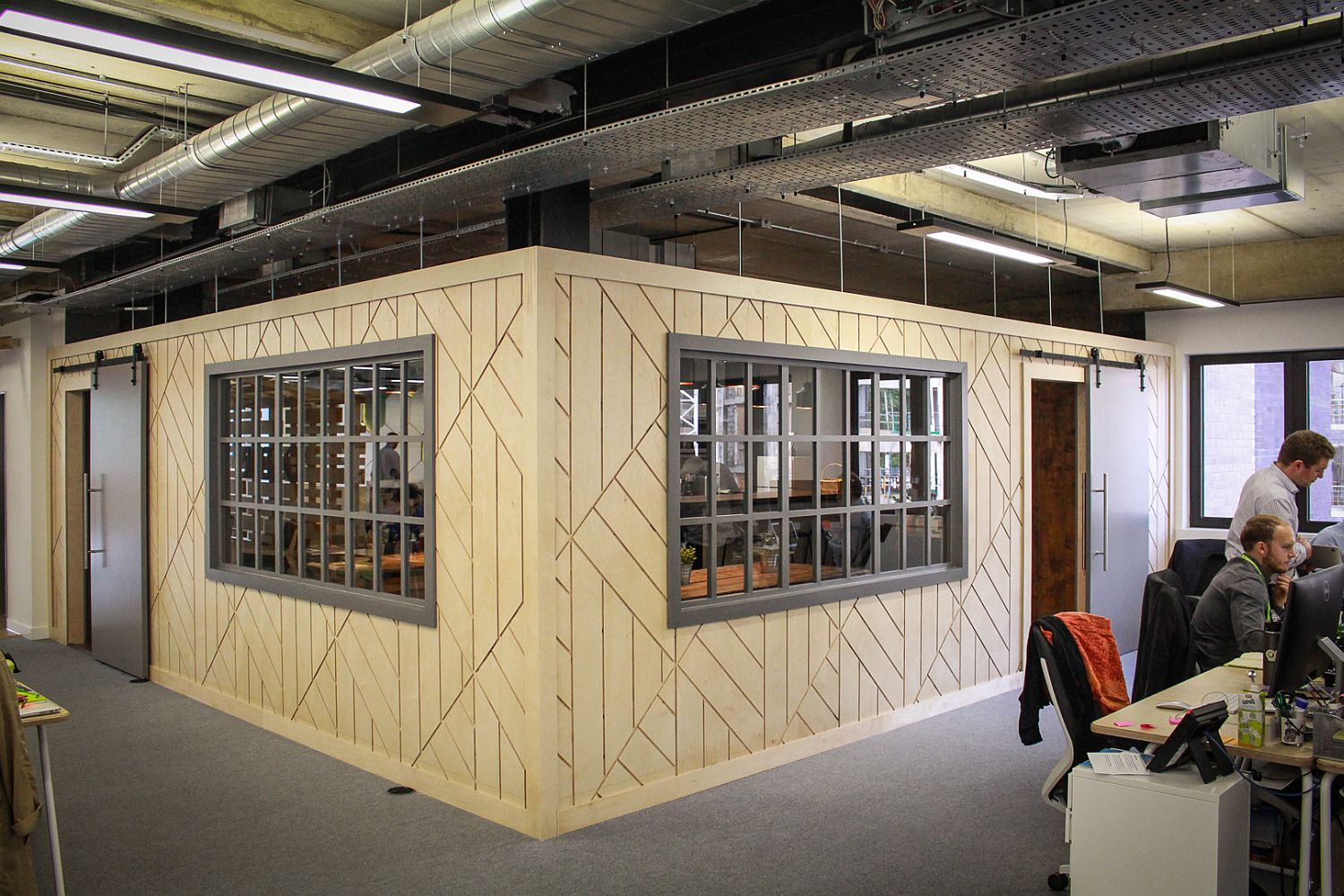 Meeting rooms inside the new Seedrs office in London