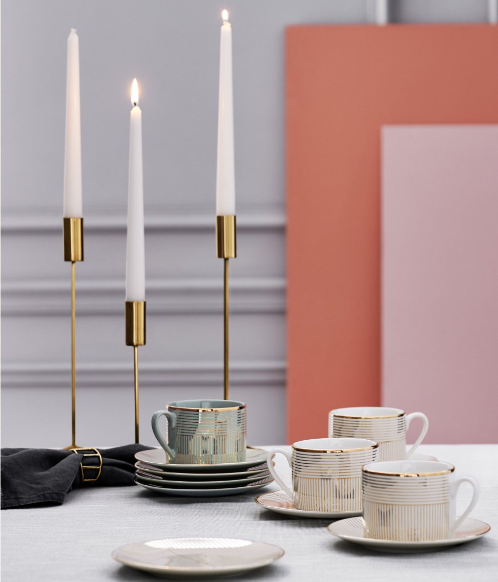 Metal candleholders from H&M Home