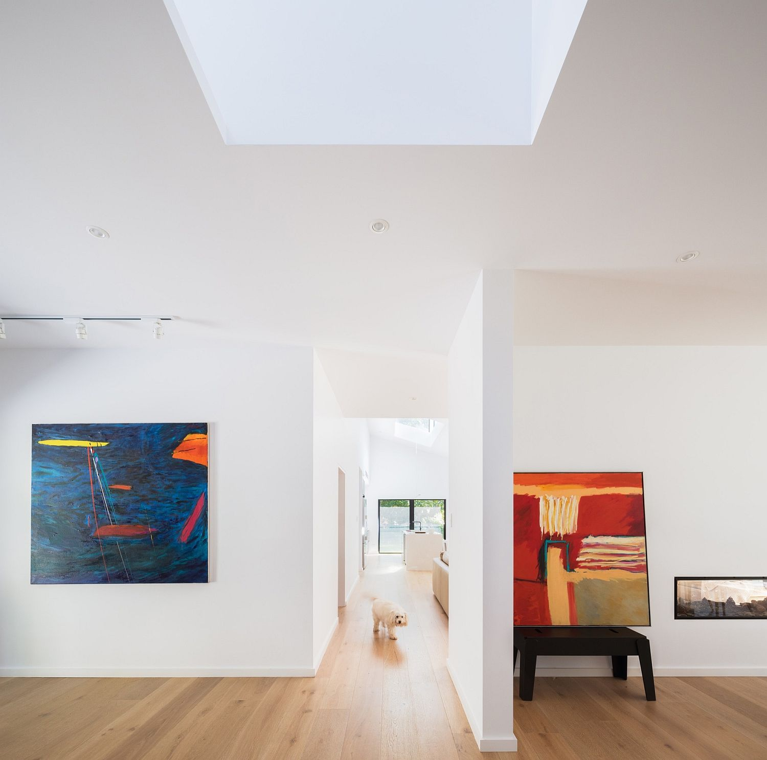 Modern artwork brings color to the contemporary interior