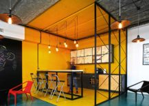 A world of color and creative design: modern industrial office in