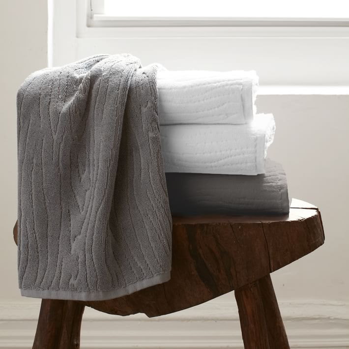 Organic towels from West Elm