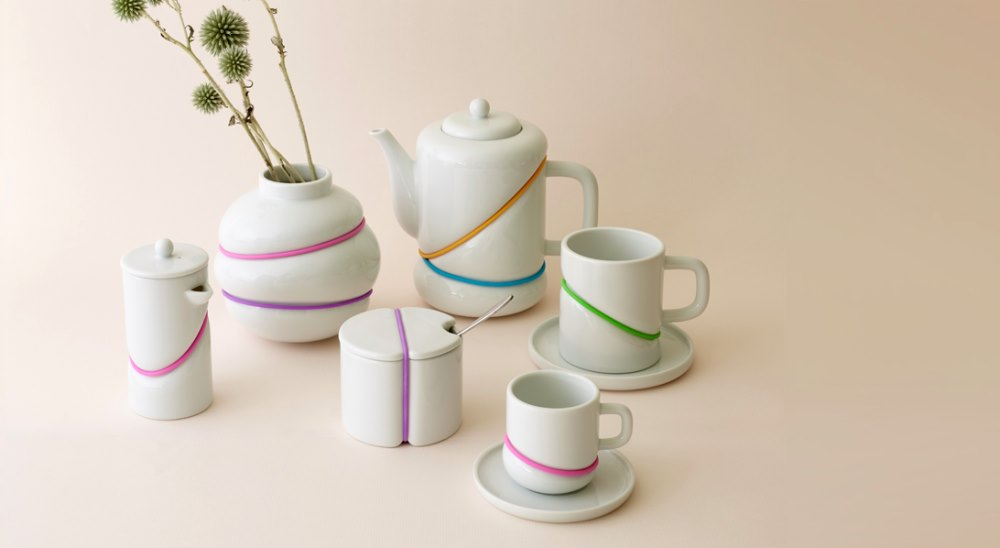 RUBBER BAND tea set