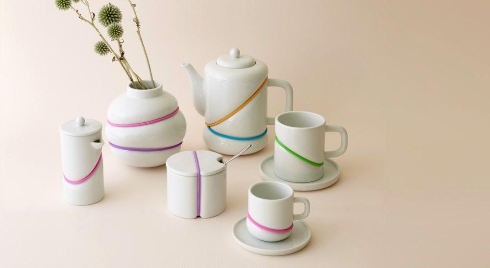 RUBBER BAND tea set
