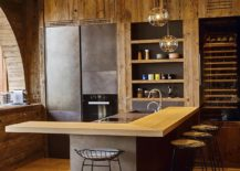 Recessed-lighting-coupled-with-sparkling-pendants-for-the-rustic-modern-kitchen-217x155