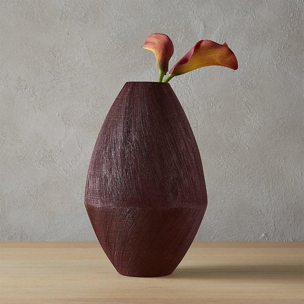 Red modern vase from CB2