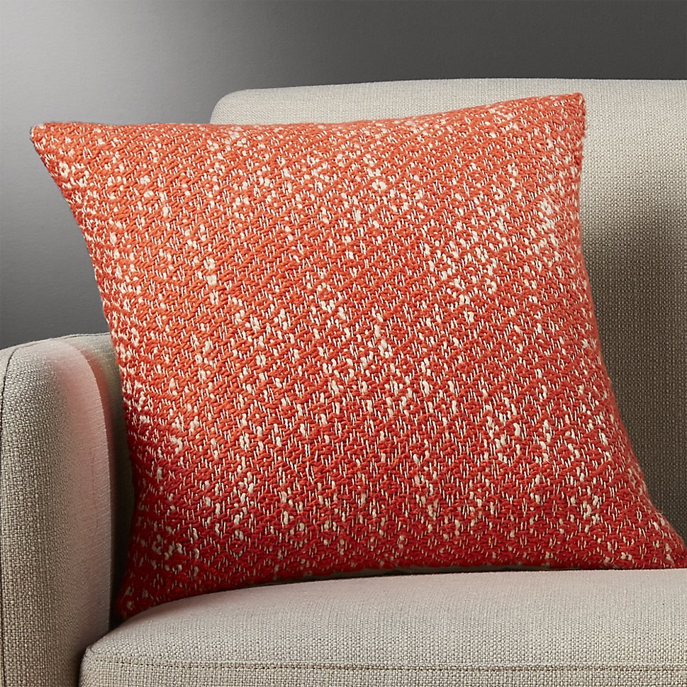 Red-orange pillow from CB2