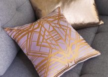 Rose gold pillows from CB2 217x155 Celebrate Valentines Day in Style