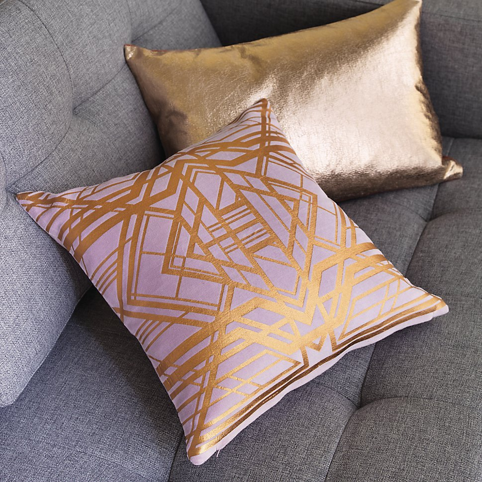 Rose gold pillows from CB2