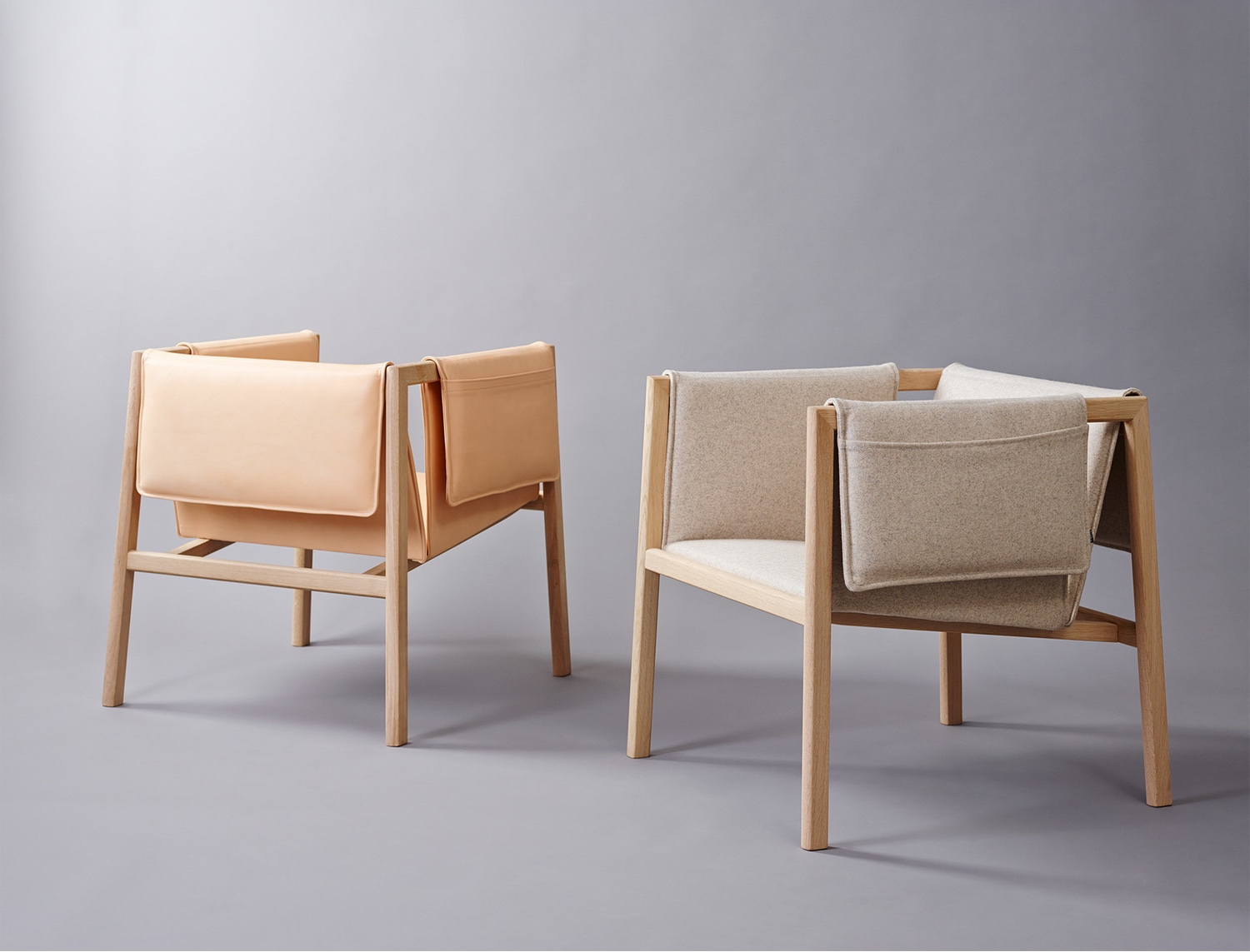 Saddle Chairs in leather and wool