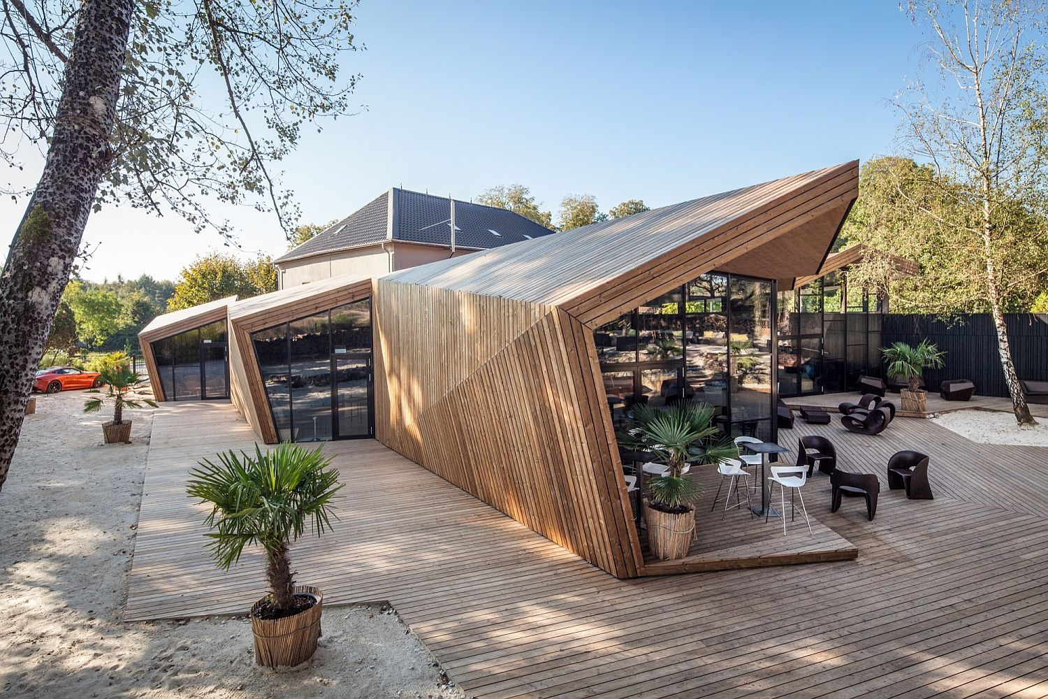 Sculptural style of Luxembourg restaurant inspired by art of origami