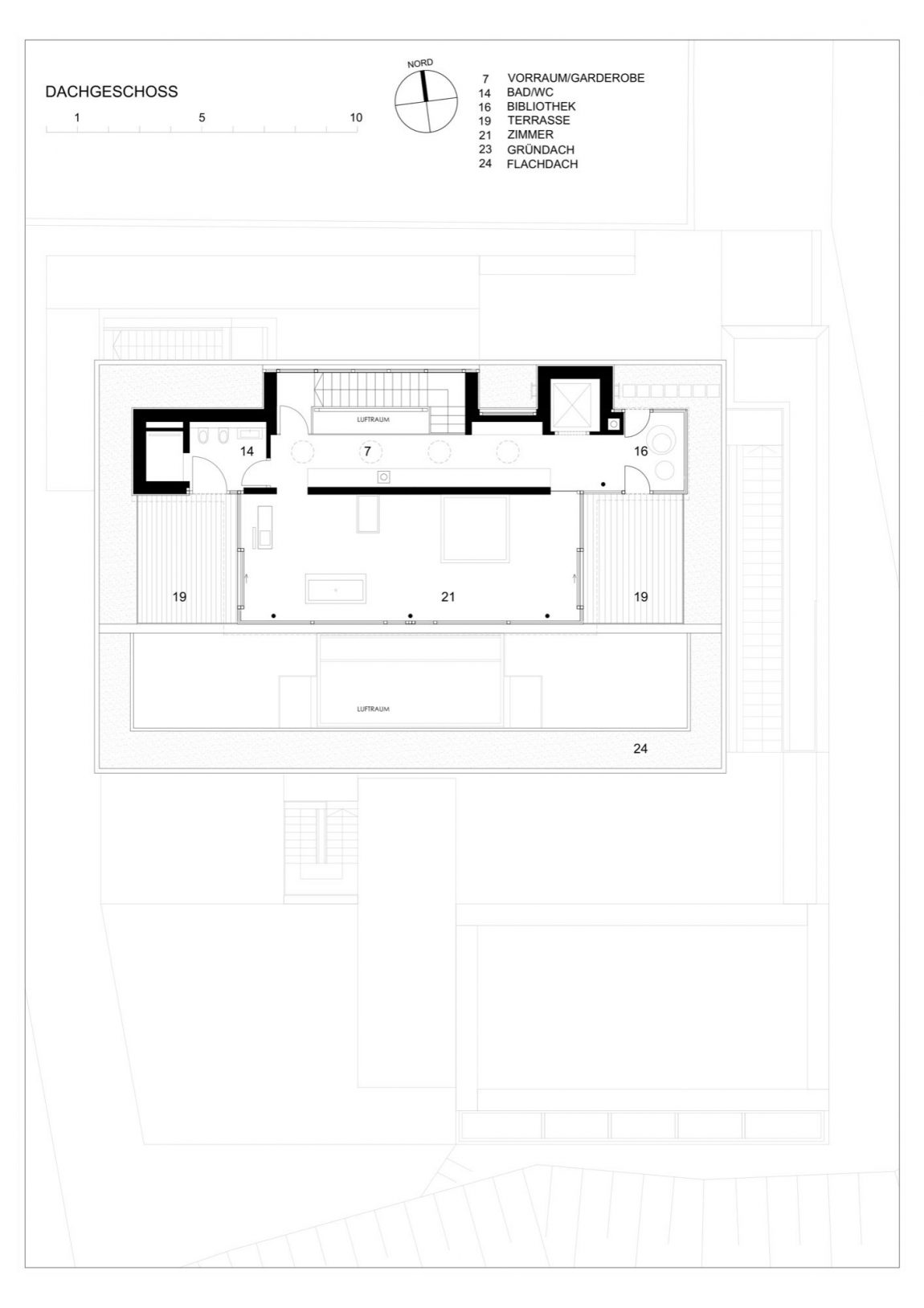 Second level floor plan of POHO33