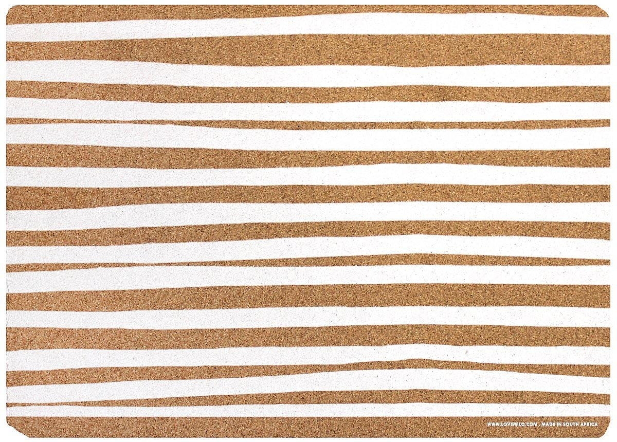 Striped cork placemats