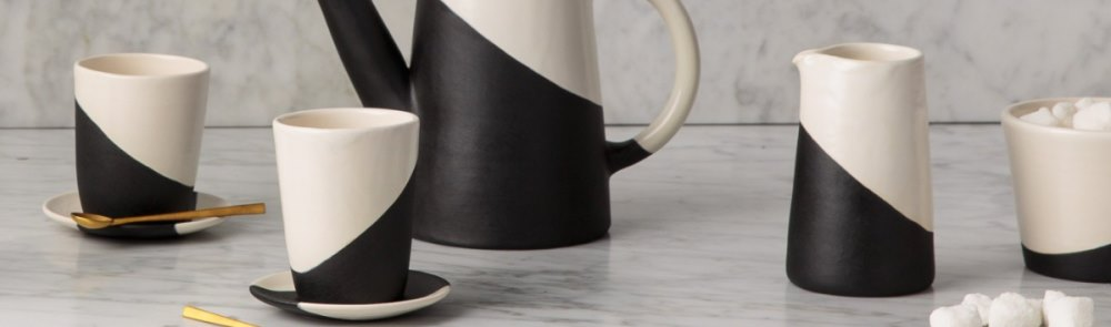 The color-blocked style of Shift Porcelain