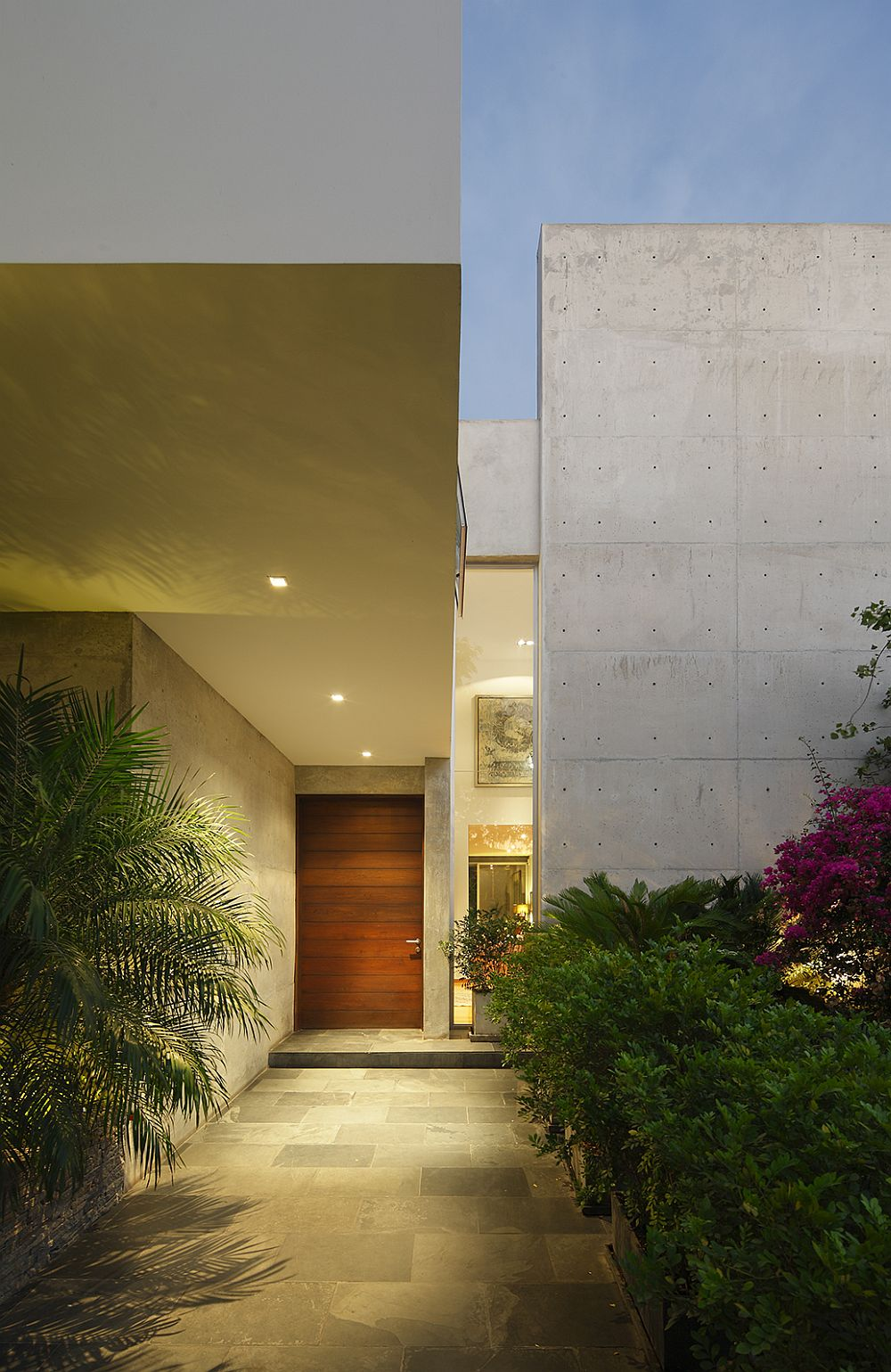 View of the entry of House M in Lima, Peru