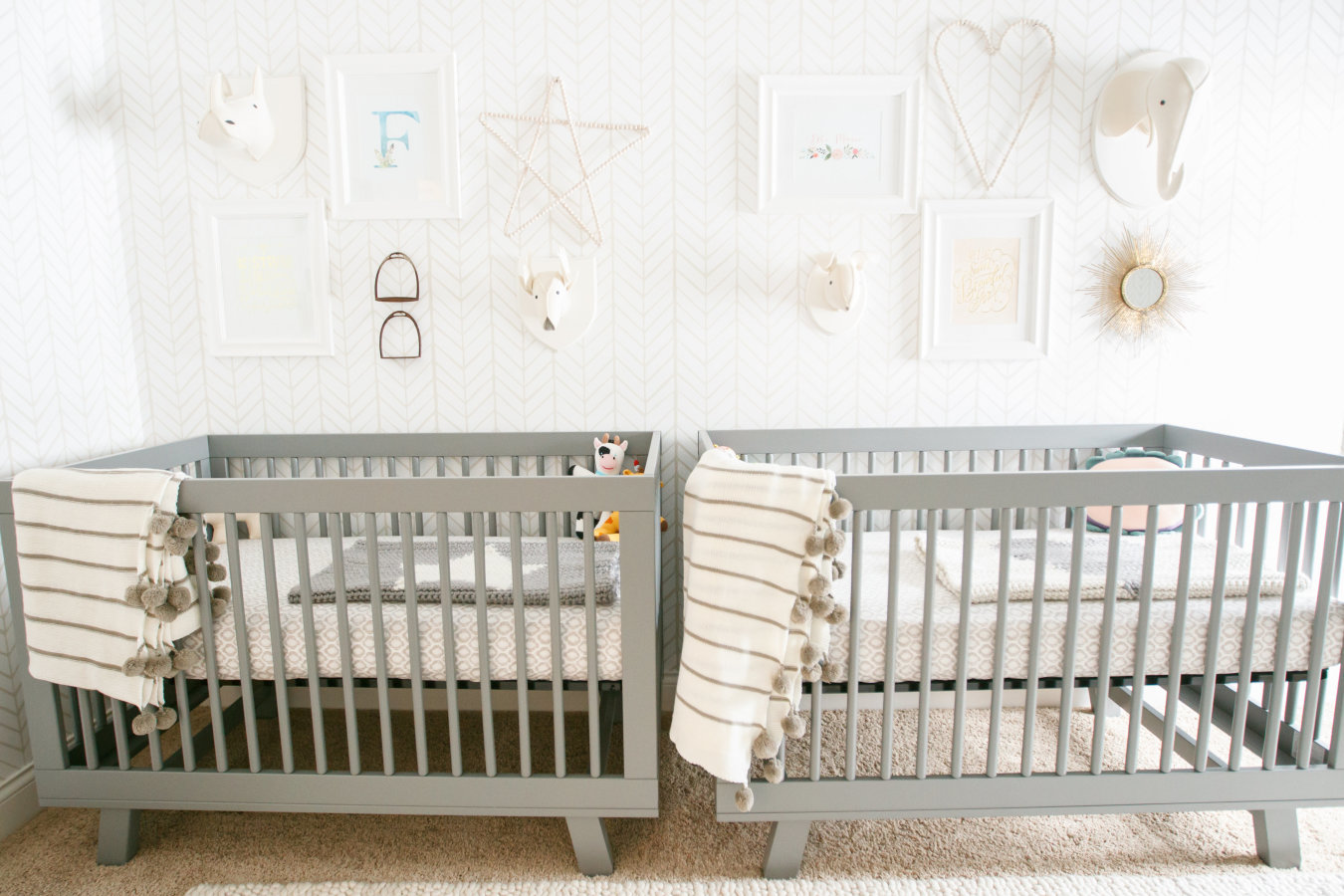 A bright and neutral toned nursery