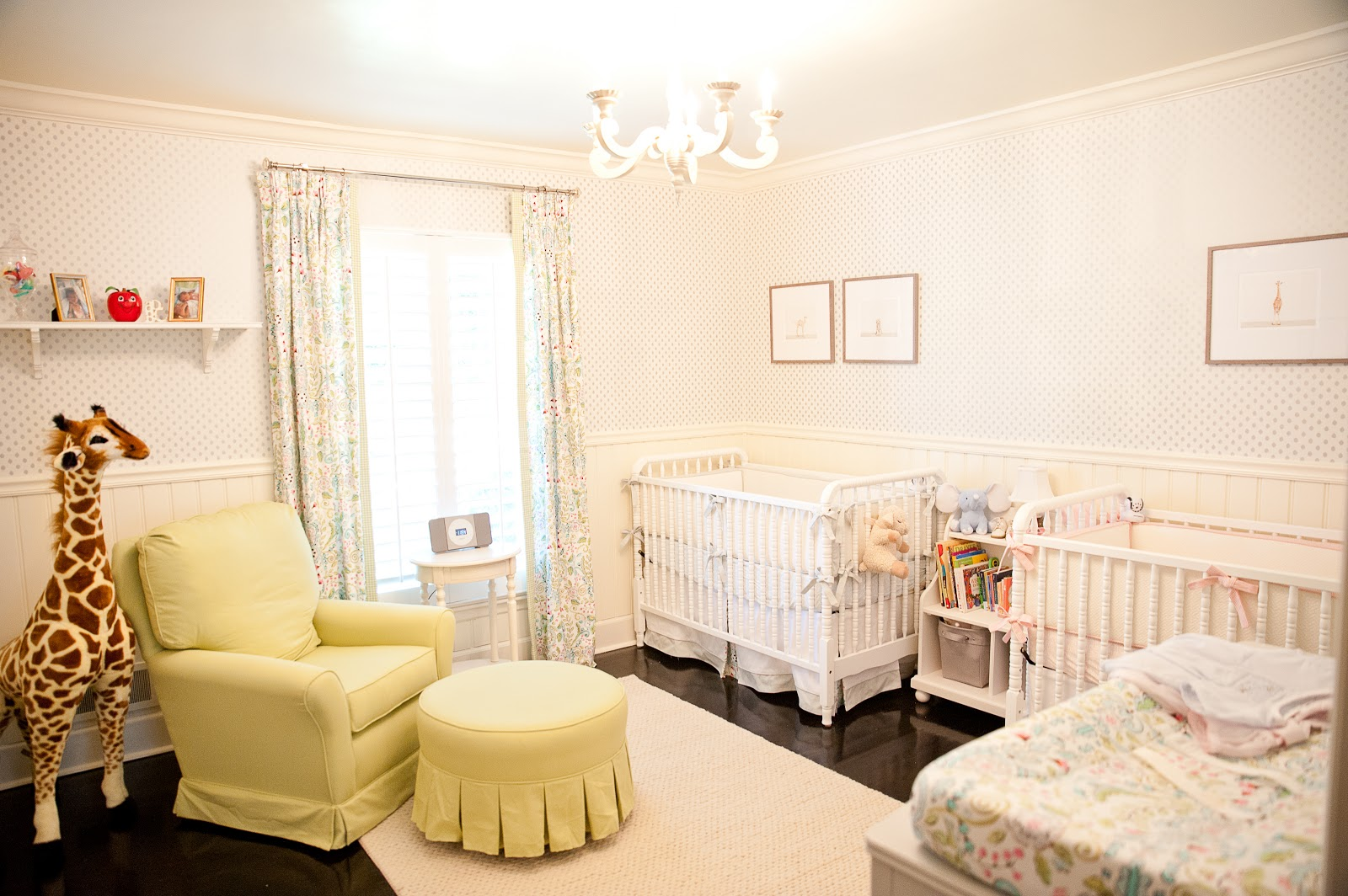 A nursery that is radiating warmth and glee