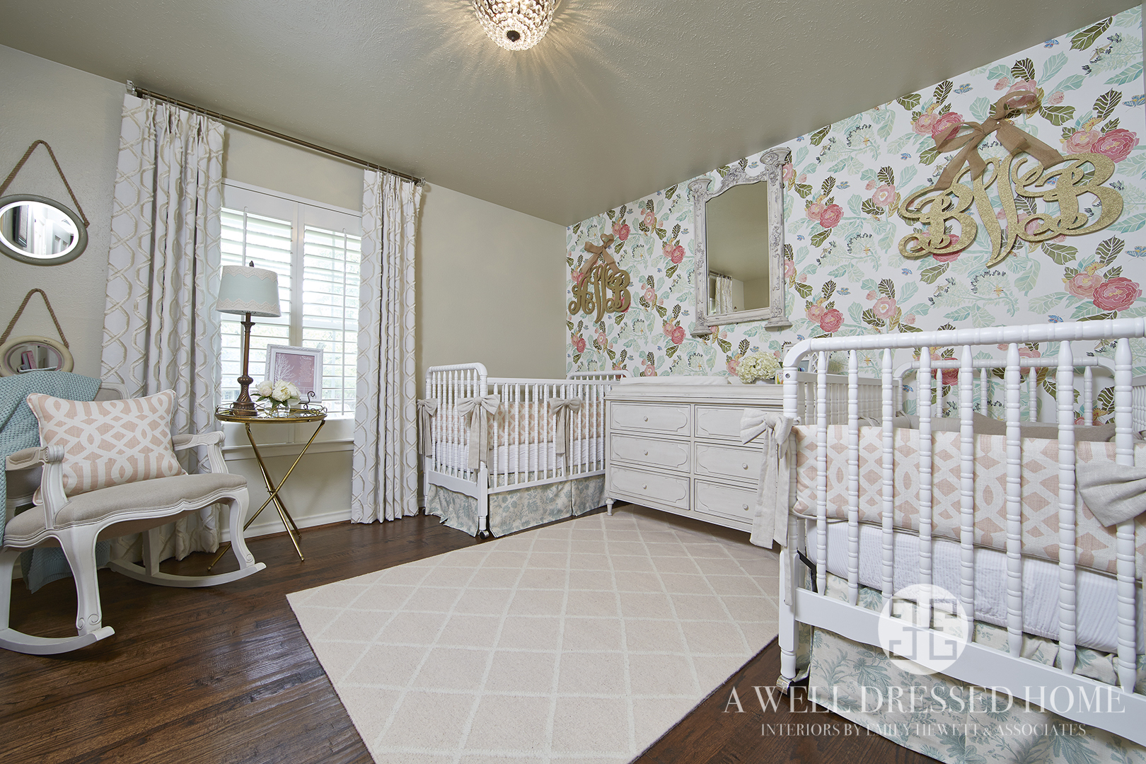 A perfect vintage styled twin nursery