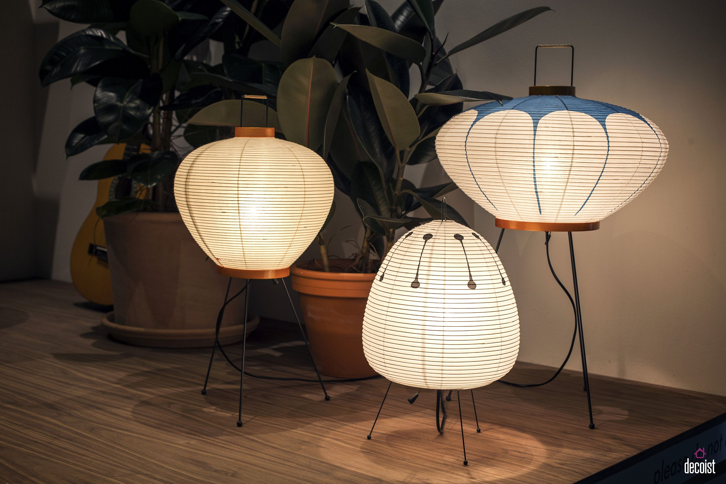 Akari floor and bedside lamps are classics that never go out of style