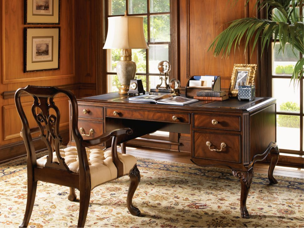 Antique-home-office-with-an-incredible-vintage-desk-
