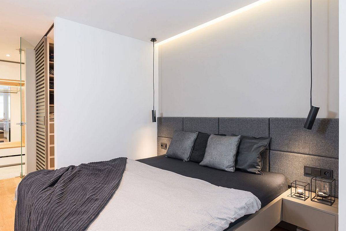 Bedside pendnat lights are absolute space-savers