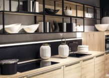 Black-metallic-frame-gives-these-kitchen-shelves-a-modern-industrial-style-217x155