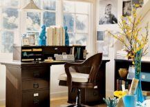 Bold-and-bright-colors-in-a-home-office-with-dark-wood-furniture-217x155