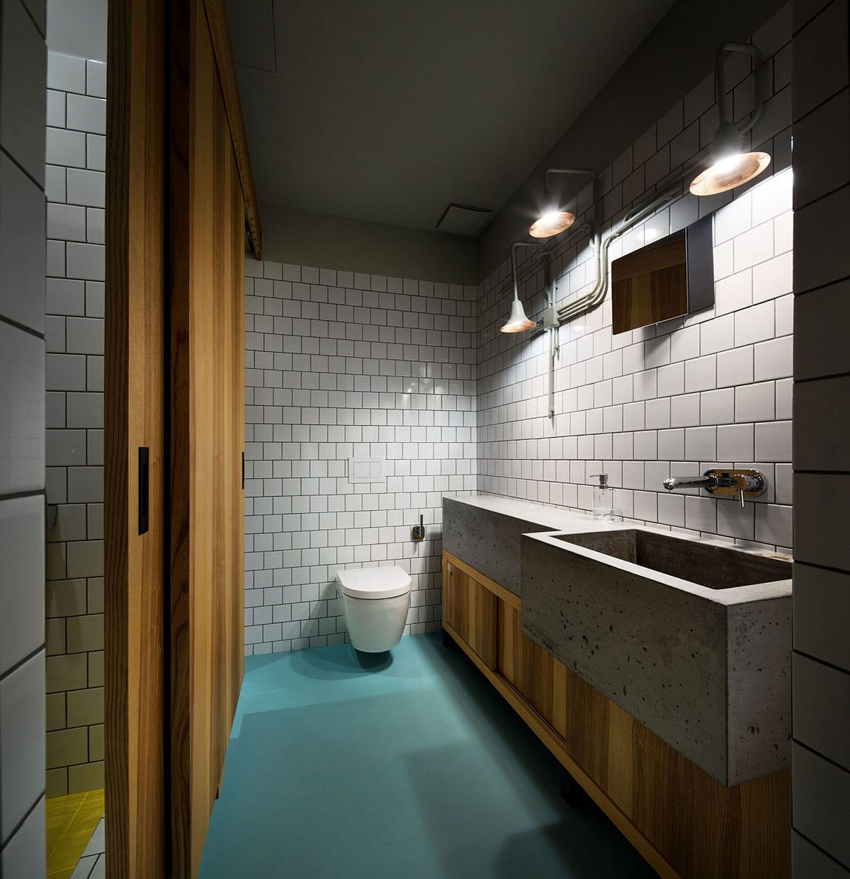 Cement-sinks-bring-unique-style-to-the-contemporary-bathroom