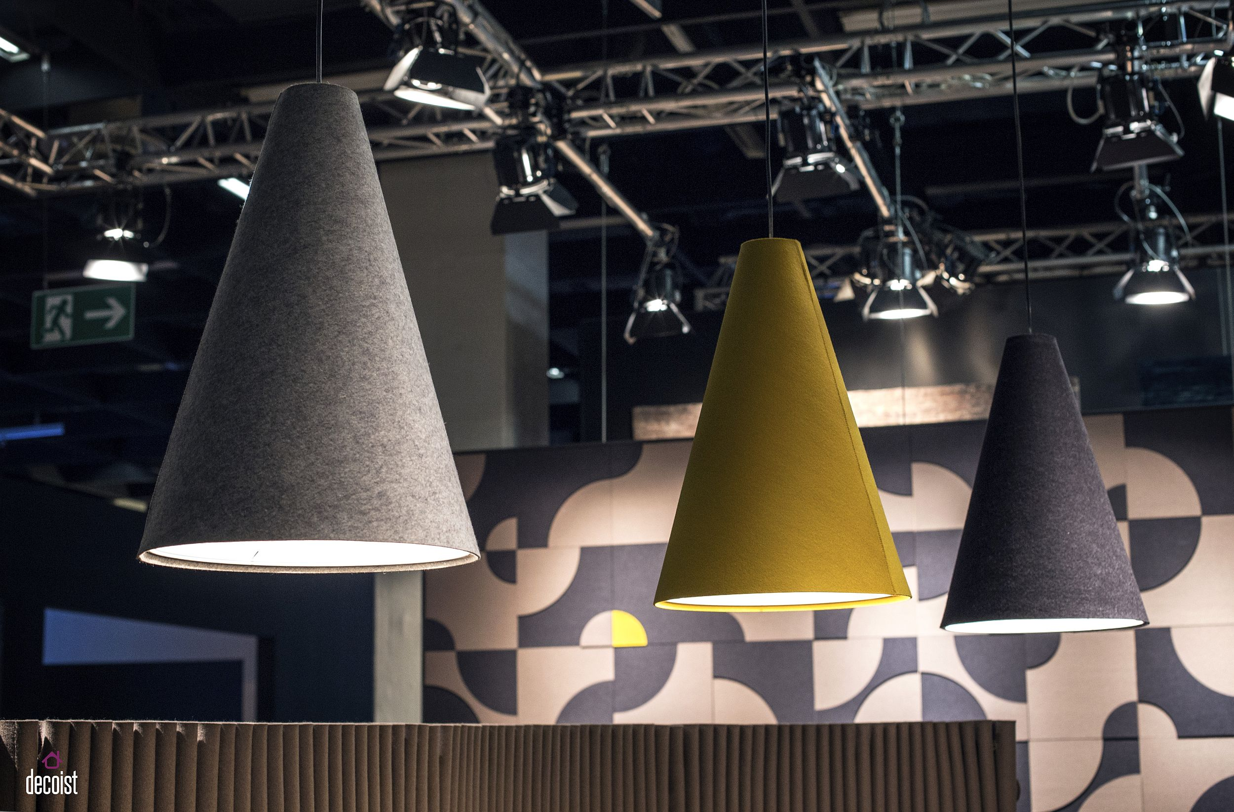 Classic cone pendant in its modern colorful variant