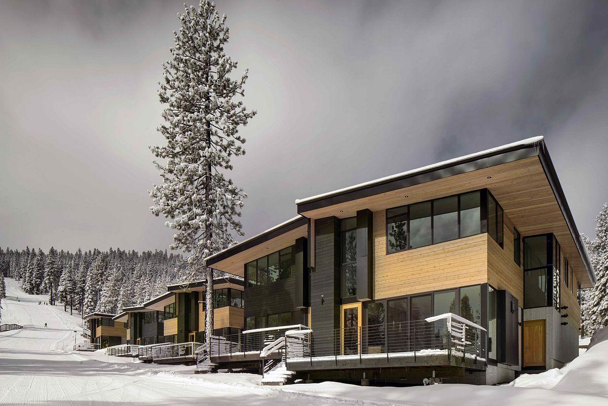 Eco friendly mountainside homes reimagine the classic ski for Eco homes canada
