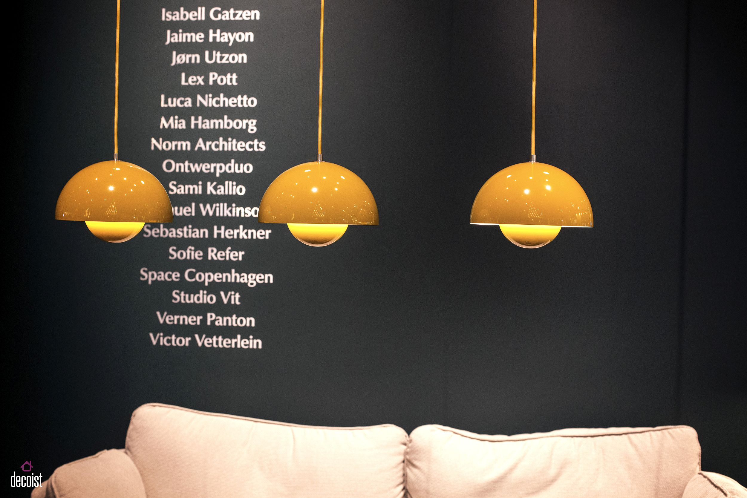 Colorful pendants in yellow bring vibrance to any interior they adorn