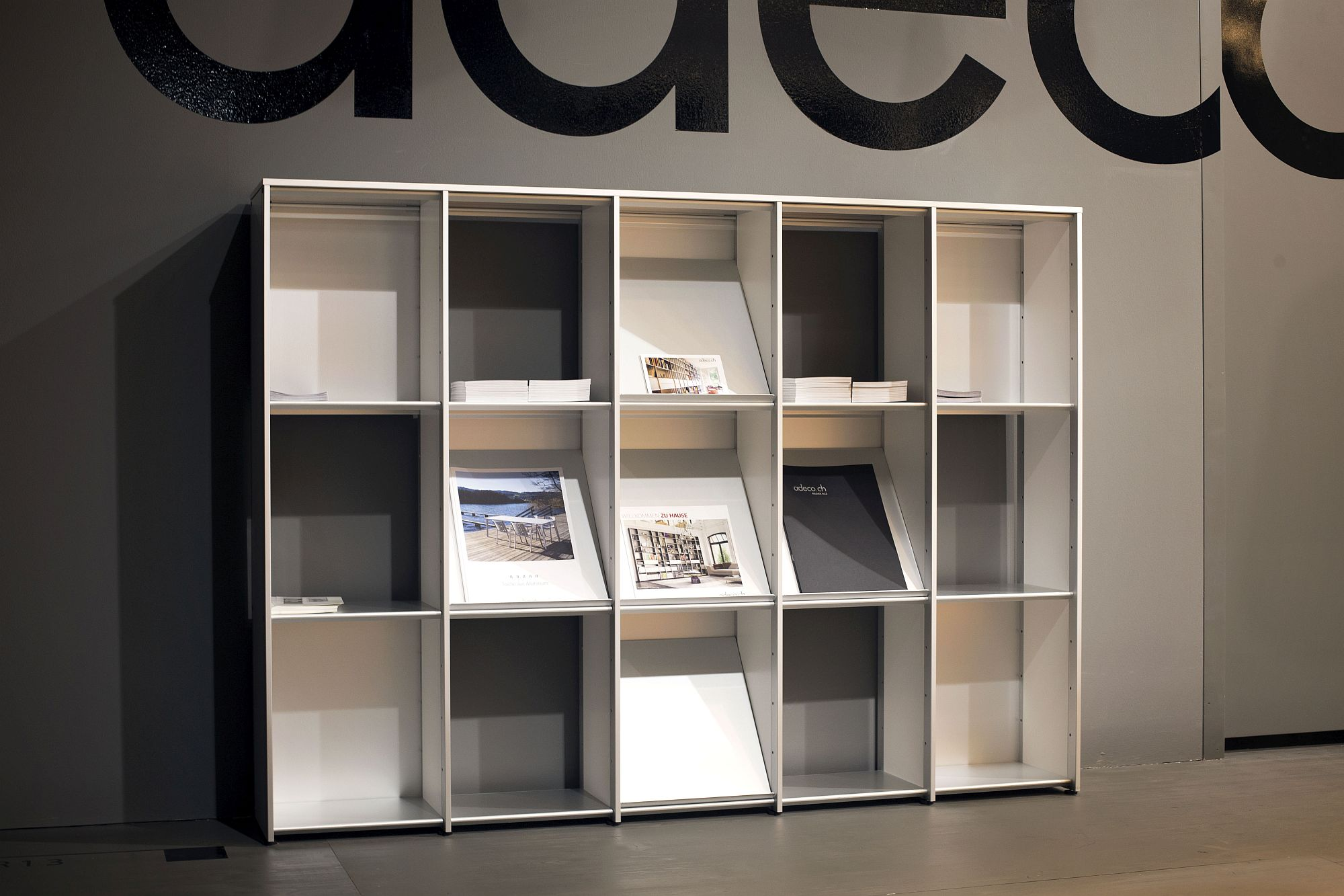 Contemporary book and magazine storage unit for the home office