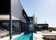 Contemporary lap pool for the elegant home in Victoria 217x155 Lahinch House: Refined and Refreshing Aussie Home With a Difference