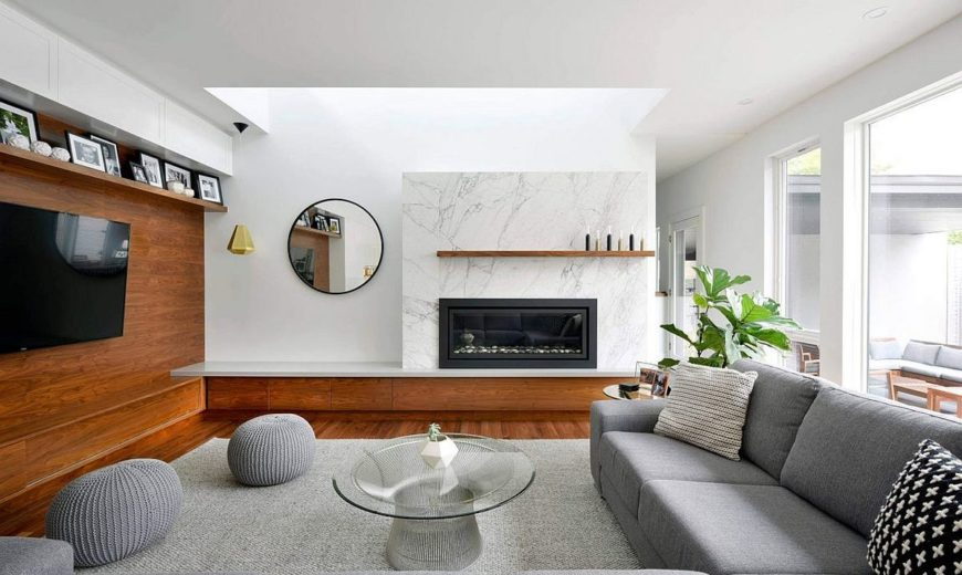 Marble, Wood and Modernity: Refined House Addition in Ottawa
