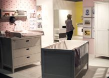 Contemporary-nursery-in-pink-with-gray-crib-from-Welle-Mobel-217x155