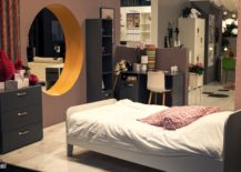 Contemporary-teen-bedroom-idea-with-a-round-window-ample-storage-and-a-comfy-bed-217x155