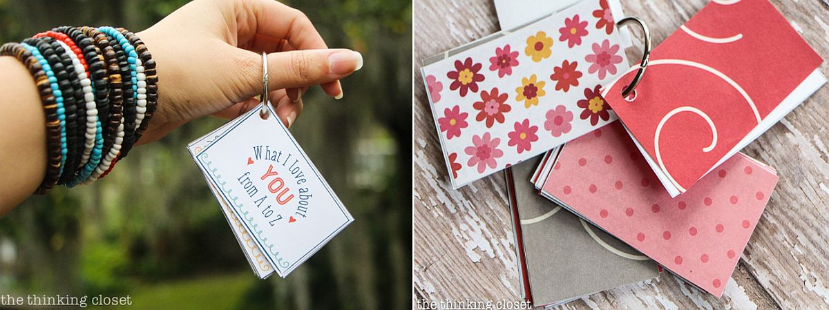 DIY What I Love About You Mini Book