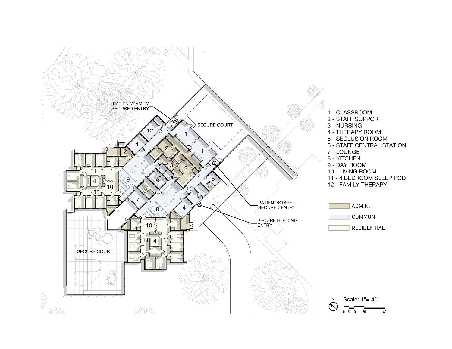 Design plan of Trillium Secure Adolescent Inpatient Facility