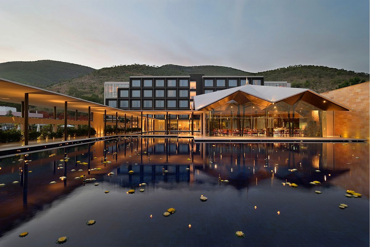 Divinity and Indian architectural principles shape a luxurious and splendid hotel in Tirupati Opulent Splendor at Foothills of Saptagiri: Luxurious Dasavatara Hotel