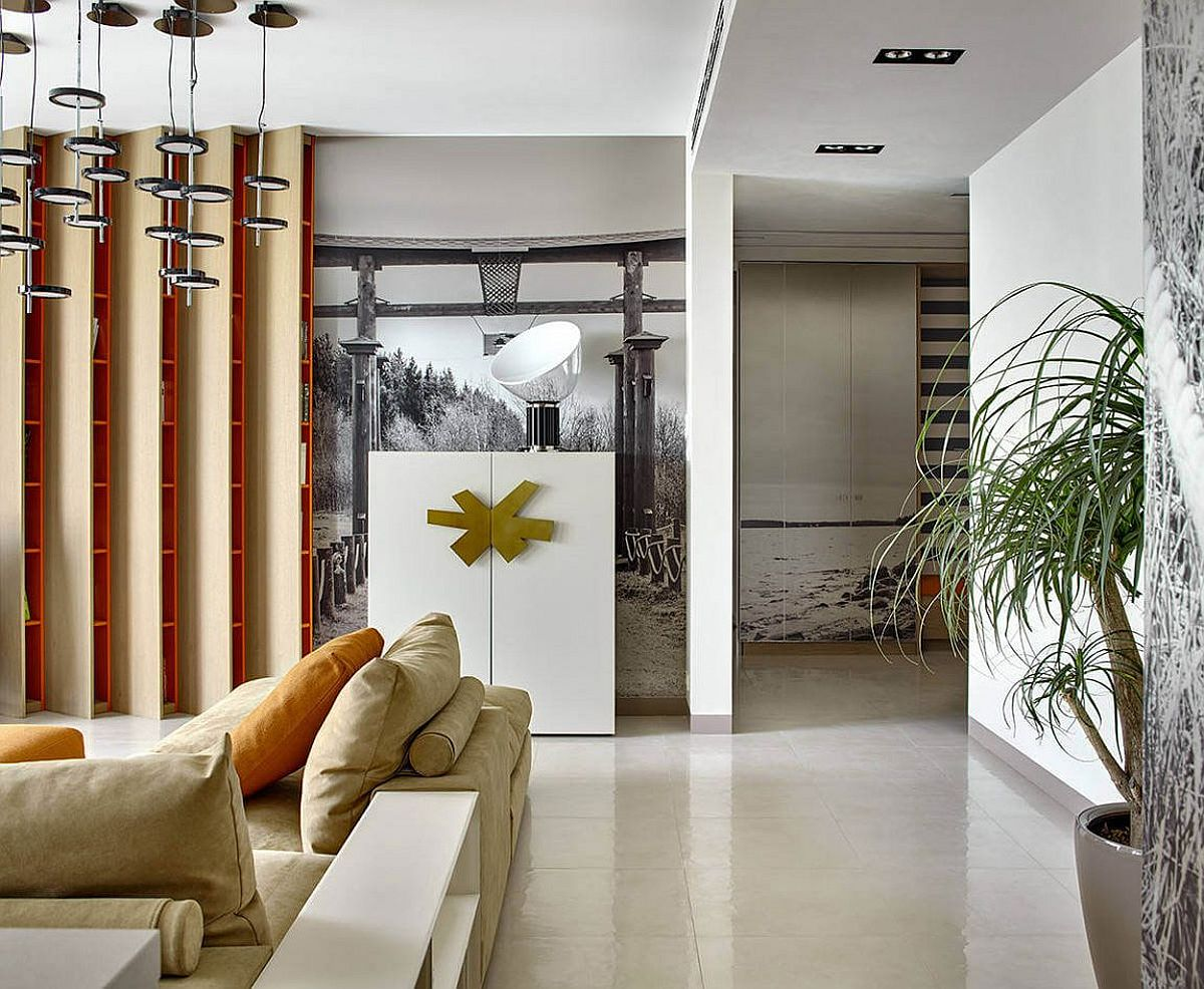 Eclectic and refined modern apartment in Moscow Black, White and Geometric Delight: Urbane Supreme Apartment in Moscow
