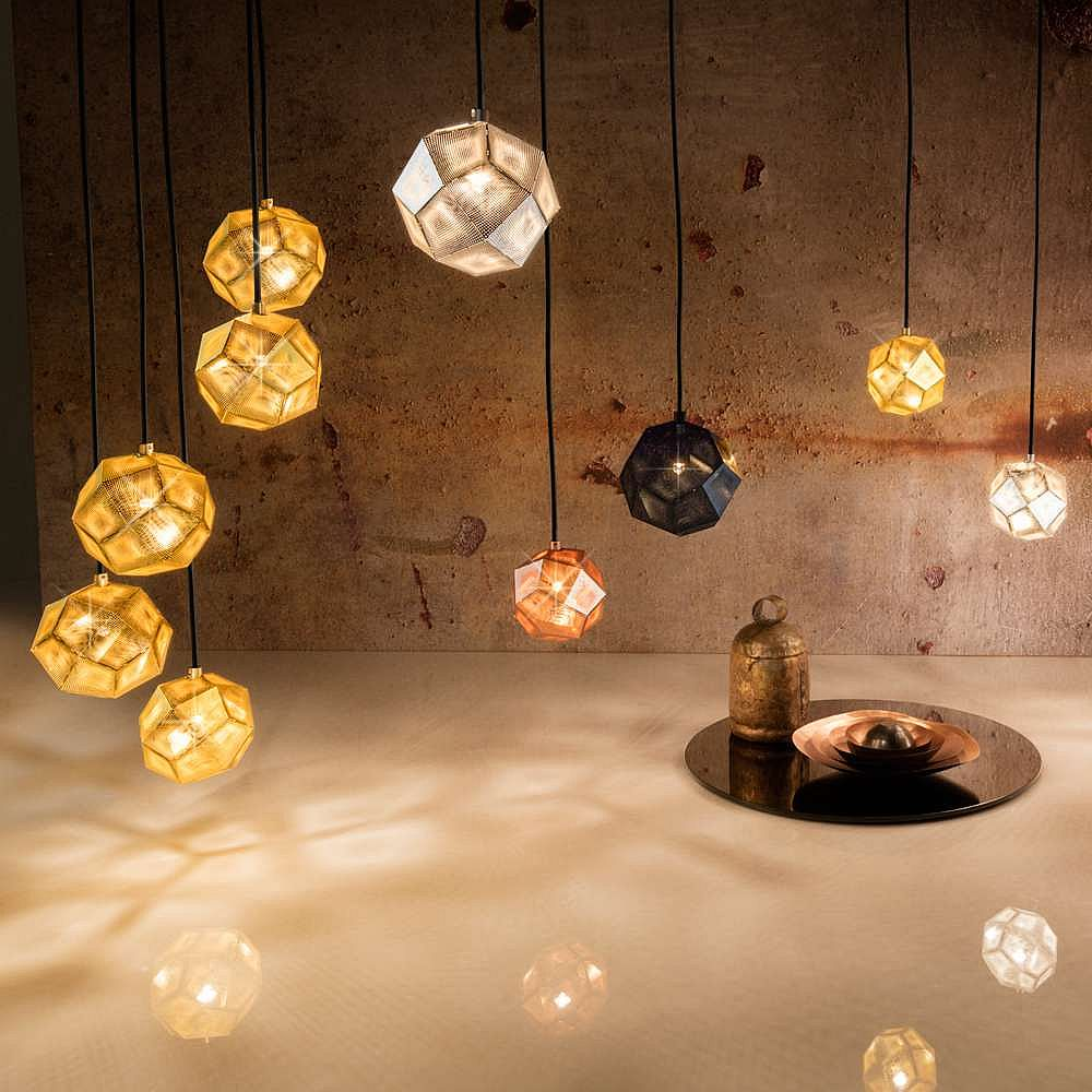 Etch Mini Chandelier Collection by Tom Dixon