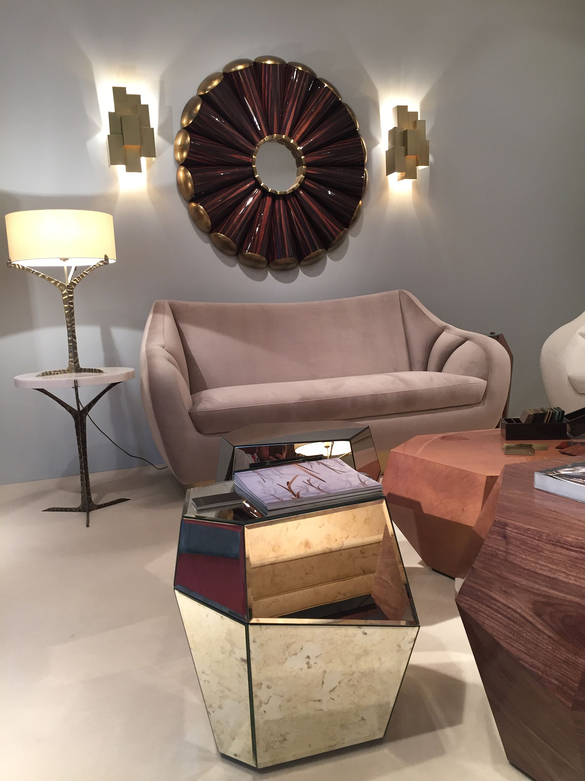 Exclusive mirrored coffee table and side table from INSIDHERLAND