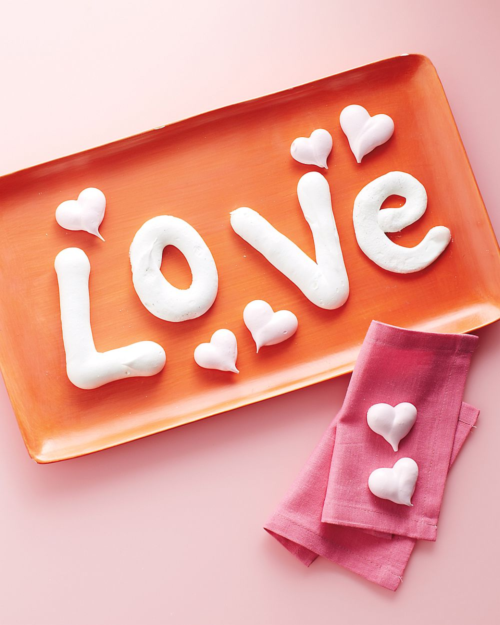 Exquisite Meringue Letters and Hearts from Martha Stewart 25 Easy and Fun DIY Valentine's Day Crafts for Everyone