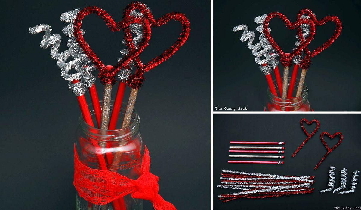 Fabulous Valentine's Day Pencils – Kids Crafts