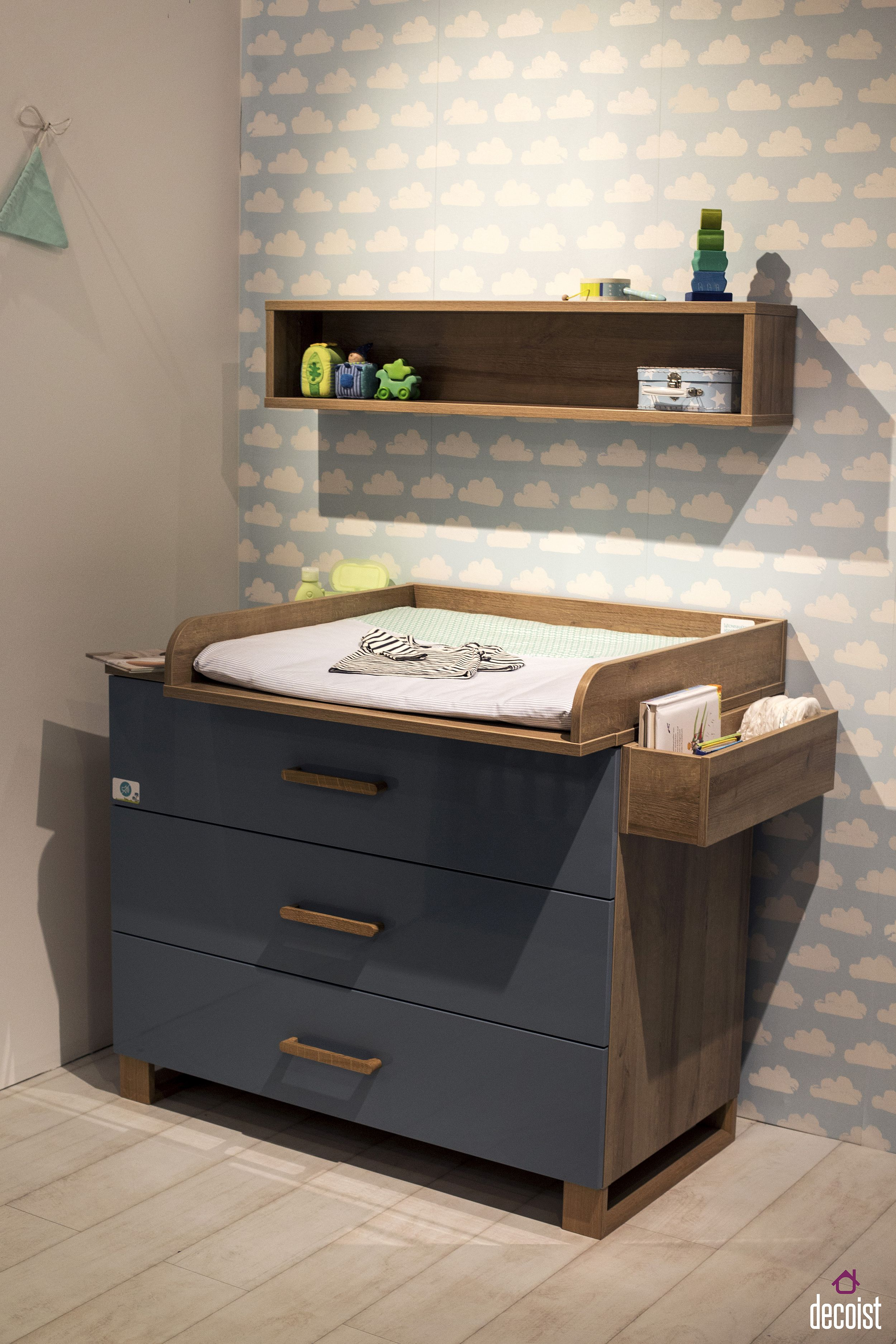 Fabulous changing station for the boys' nursery in blue