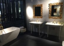 Fabulous-mirror-frames-in-gold-gives-the-bathroom-a-classic-vibe-217x155