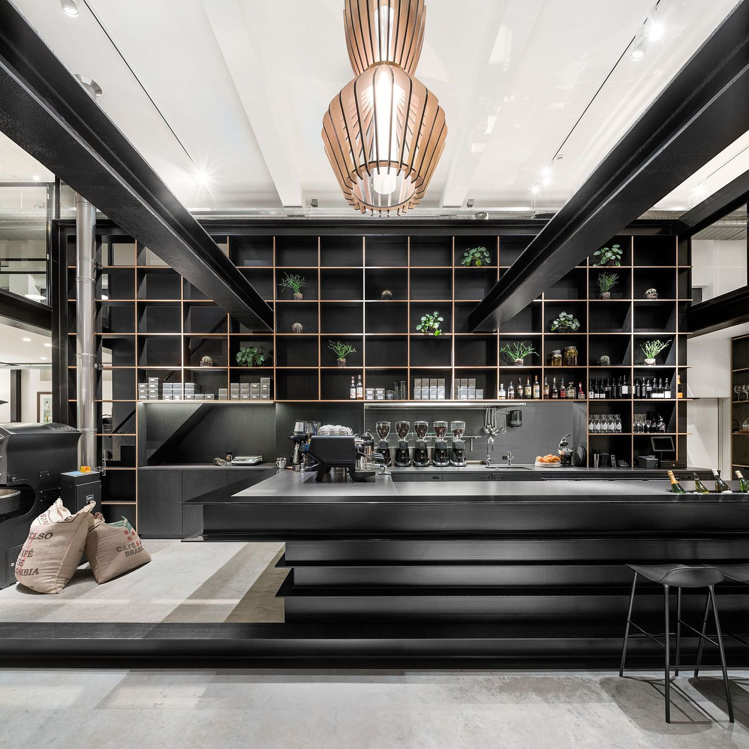 Fabulous-pendant-lights-bring-both-visual-and-textural-contrast