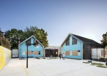 Fabulous use of blue enlivens the exterior of the Trillium Secure Adolescent Inpatient Facility 217x155 Adolescent Inpatient Facility: Cottage Aesthetics Coupled with Top Notch Security